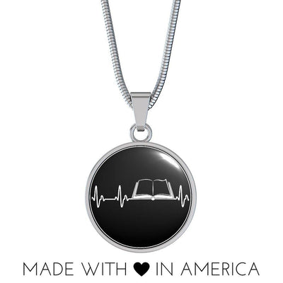 Book Heartbeat Necklace/Bangle