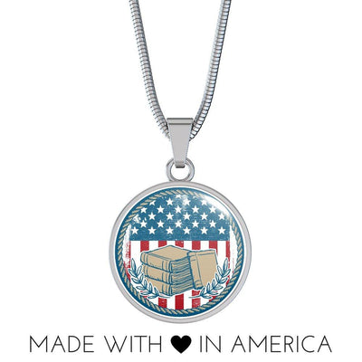 American Flag & Book Necklace/Bangle