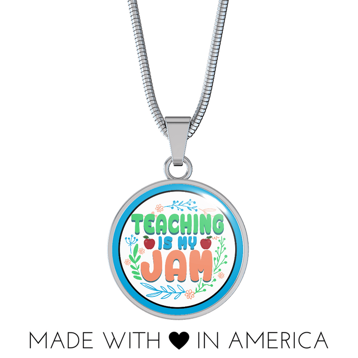 Teaching Is My Jam Necklace