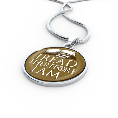 I Read Therefore I Am Necklace