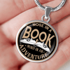 Nose In A Book Mind In An Adventure Necklace