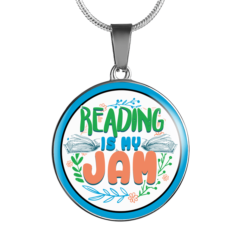 Reading Is My Jam Necklace - Awesome Librarians