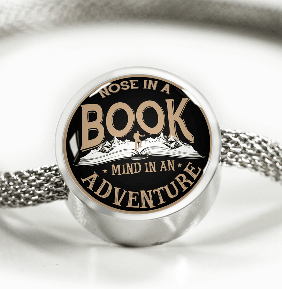 Nose In A Book Mind In An Adventure Circle Charm Bracelet