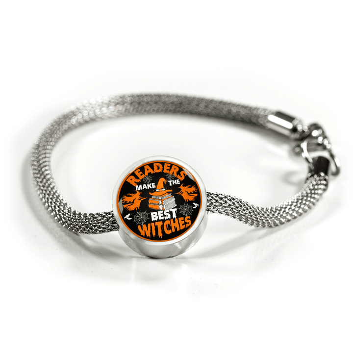 Readers Make The Best Witches Circle Charm Bracelet