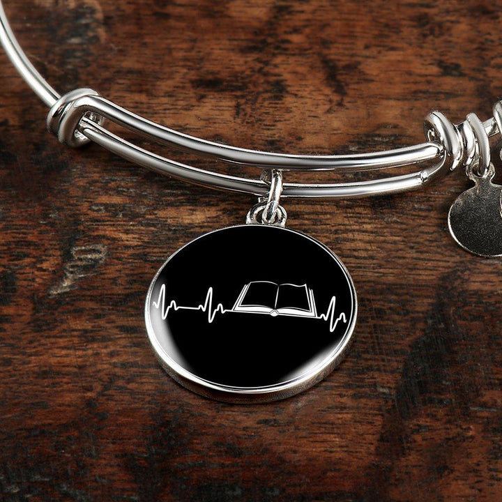 Book Heartbeat Bracelet - Awesome Librarians