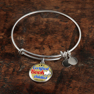 Certified Book Addict Bracelet