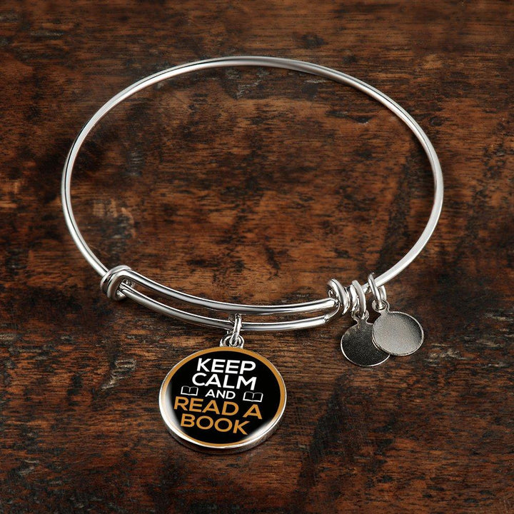 Keep Calm And Read A Book Bracelet