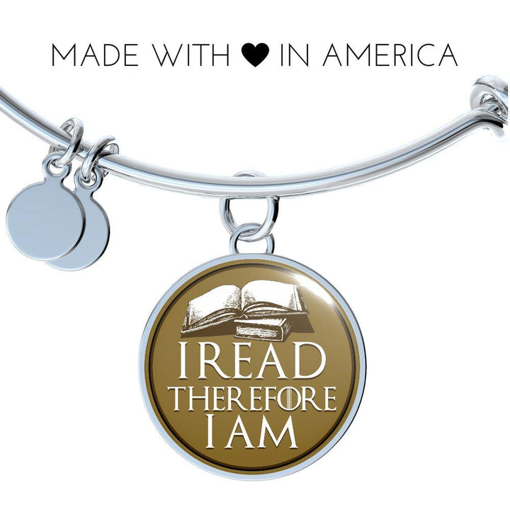 I Read Therefore I Am Bracelet