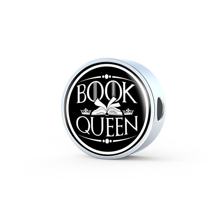Book Queen Leather Circle Charm Bracelet - Awesome Librarians