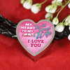 My Heart To My Well Read Wife I Love You Leather Charm Bracelet