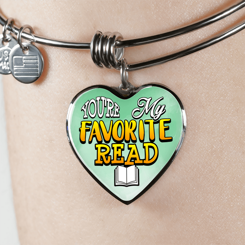 You're My Favorite Read Heart Bangle Bracelet - Awesome Librarians