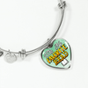 You're My Favorite Read Heart Bangle Bracelet