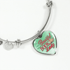 To My Most Beautiful Book Lady Heart Bangle Bracelet