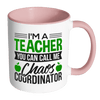 I'm A Teacher You Can Call Me Chaos Coordinator Accent Mug - Awesome Librarians