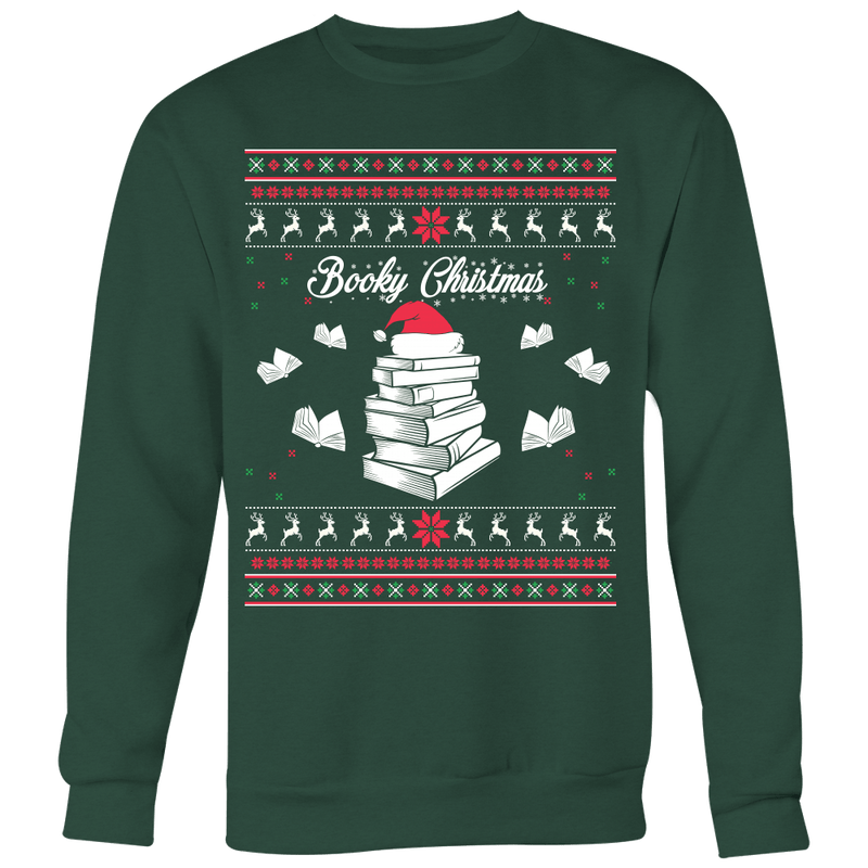 Booky Christmas Ugly Christmas Sweater - Awesome Librarians