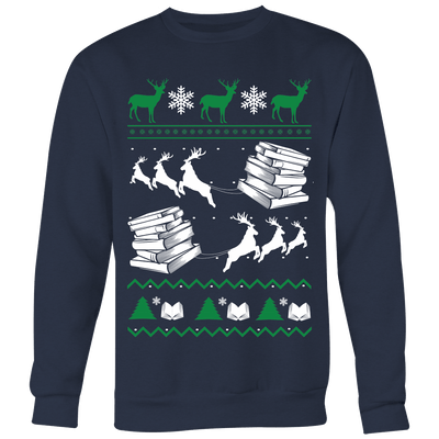 Ugly Christmas Sweater For Book Lovers