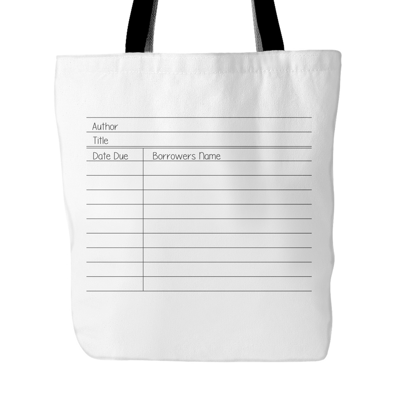 Library Card Tote Bag - Awesome Librarians
