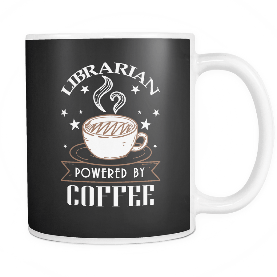 Librarian Powered By Coffee 11oz Mug