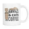 Books & Cats And Coffee 11oz Mug - Awesome Librarians
