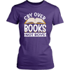 Cry Over Books Not Boys Shirt - Awesome Librarians