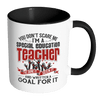 You Don't Scare Me I'm A Special Education Teacher I've Done It, Seen It And Written A Goal For It Accent Mug