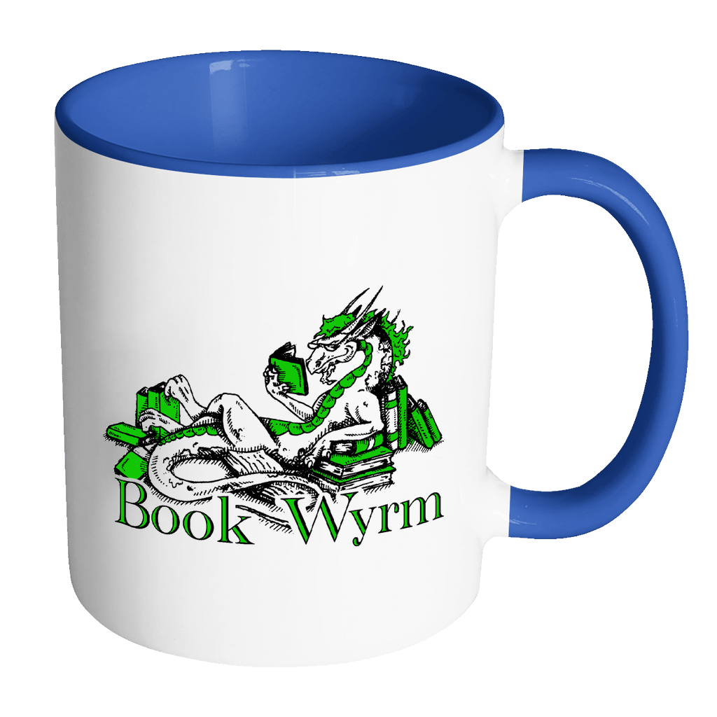 Book Wyrm 11oz Accent Mug - Awesome Librarians