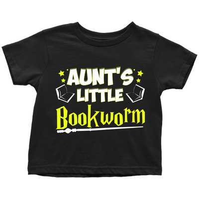 Aunt's Little Bookworm Youth T-Shirts - Awesome Librarians