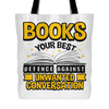 Books Your Best Defence Against Unwanted Conversations Tote Bag - Awesome Librarians
