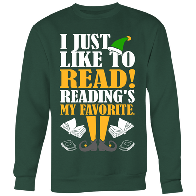 I Just Like To Read Reading's My Favorite Ugly Christmas Sweater