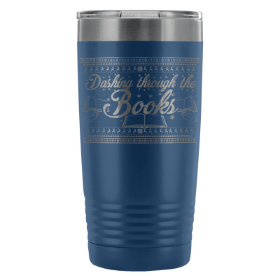 Dashing Through The Books 20oz Tumbler - Awesome Librarians