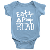 Eat, Poop, Read Baby Onesie