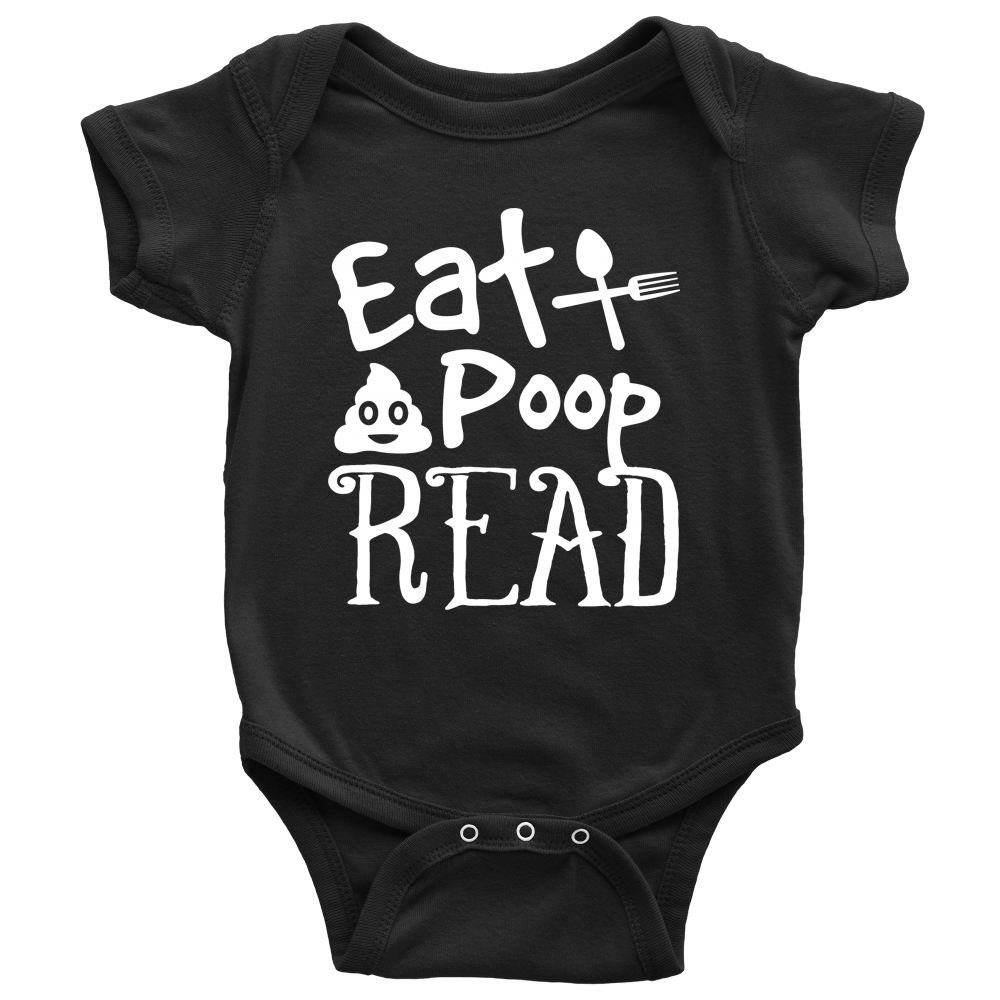 Eat, Poop, Read Baby Onesie - Awesome Librarians