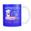 Happines Is A Cup Of Coffee And A Really Good Book 11oz Mug