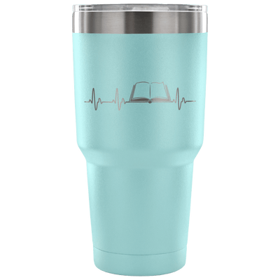Heartbeat Of A Book Lover Tumbler - Awesome Librarians