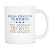 Spacial Education Teacher The Woman The Myth The Legend Mug - Awesome Librarians