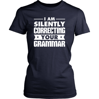 I Am Silently Correcting Your Grammar Shirt - Awesome Librarians - 9