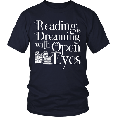 Reading Is Dreaming With Open Eyes Shirt - Awesome Librarians - 4