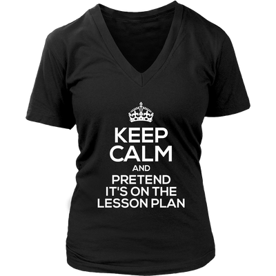 Keep Calm And Pretend It's On The Lesson Plan Shirt - Awesome Librarians - 11