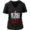 Retired Teacher Earned It Living It Loving It Shirt - Awesome Librarians - 9
