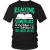 Reading Gives Us Someplace To Go When We Have To Stay Where We Are Shirt - Awesome Librarians - 1