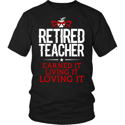 Retired Teacher Earned It Living It Loving It Shirt - Awesome Librarians - 3
