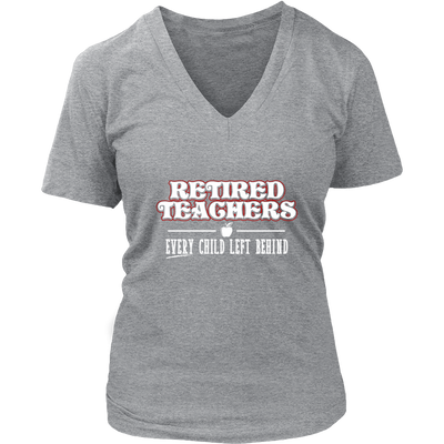 Retired Teacher Every Child Left Behind Shirt - Awesome Librarians - 11