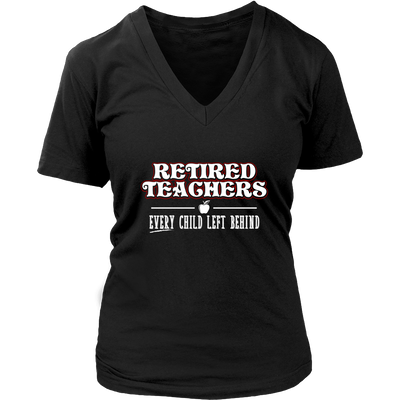 Retired Teacher Every Child Left Behind Shirt - Awesome Librarians - 10