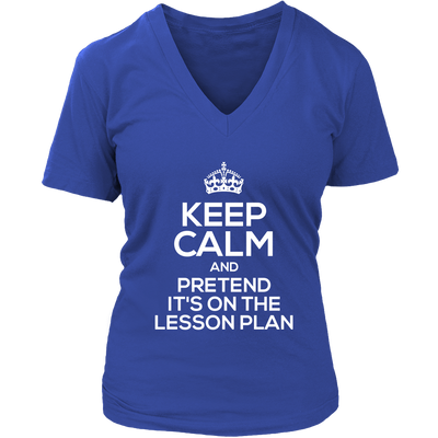 Keep Calm And Pretend It's On The Lesson Plan Shirt - Awesome Librarians - 13