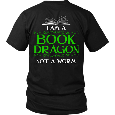 Book Dragon Shirt (Back) - Awesome Librarians - 1