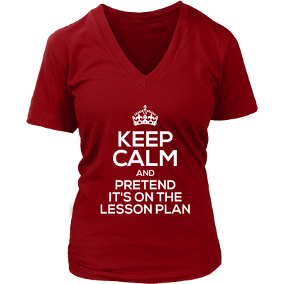 Keep Calm And Pretend It's On The Lesson Plan Shirt - Awesome Librarians