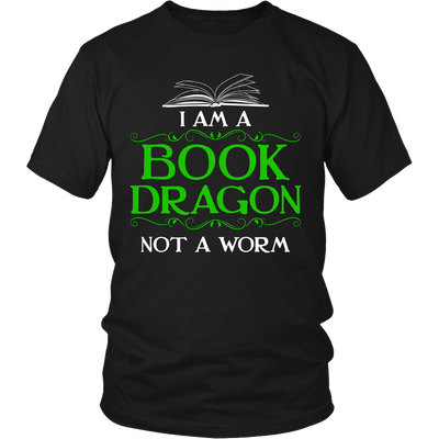 I Am A Book Dragon Not A Worm Shirt - Awesome Librarians - 5