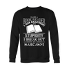 I AM A BOOK READER I AM ALLERGIC TO STUPIDITY I BREAK OUT IN SARCASM SWEATER - Awesome Librarians - 1