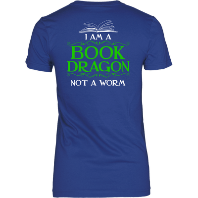 Book Dragon Shirt (Back) - Awesome Librarians - 9
