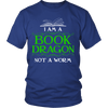 I Am A Book Dragon Not A Worm Shirt - Awesome Librarians